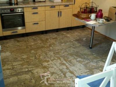 Küchenboden gefliest vorher