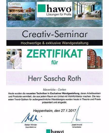 Zertifikat: Creativ-Seminar
