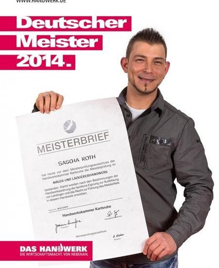 Meisterbrief Sascha Roth