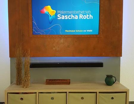 Rostimitation TV Verkleidung