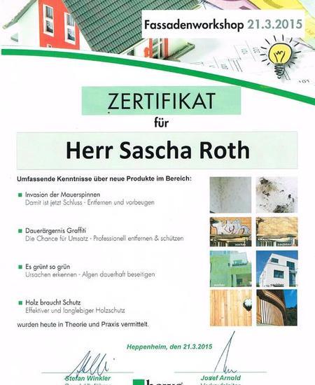 Zertifikat: Fassadenworkshop