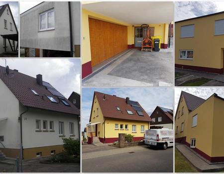 Fassadensanierung und Fassadenanstrich Objekt Nr. 4