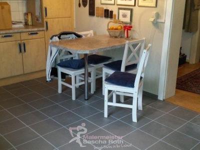Küchenboden gefliest nachher